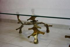 Willy Daro Signed Willy Daro Sculptural Bronze Coffee Table 1970s - 30552