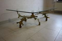 Willy Daro Signed Willy Daro Sculptural Bronze Coffee Table 1970s - 30553