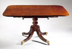 Duncan Phyfe Fine Sheraton Carved Mahogany Drop Leaf Dining Tables 1820 - 30730