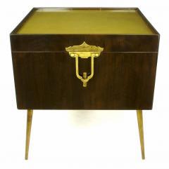 Bert England Orientation Group Walnut and Brass Bar Cabinet for John Widdicomb c 1960s - 31153