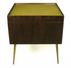 Bert England Orientation Group Walnut and Brass Bar Cabinet for John Widdicomb c 1960s - 31156