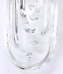 Venini Pair of Venini Bent Crystal and Brass Sconces Italy c 1970s - 31201