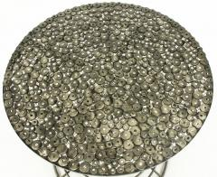 Custom Studio Center Table with Steel Rounds Top and Open Hourglass Base - 31232