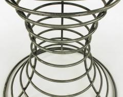 Custom Studio Center Table with Steel Rounds Top and Open Hourglass Base - 31234