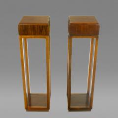 Bert England Pair of Bert England East Indian Laurel Pedestals by Baker USA c 1982 - 31262