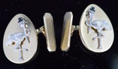 14K Gold Cufflinks New York City Stork Club - 339623