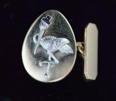 14K Gold Cufflinks New York City Stork Club - 339625