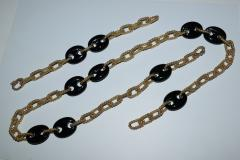 14K Gold and Onyx Convertible Necklace and Bracelet - 1208727