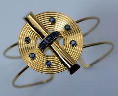 14K Gold and Sapphire Cuff Bracelet - 304880