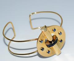14K Gold and Sapphire Cuff Bracelet - 304920