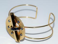 14K Gold and Sapphire Cuff Bracelet - 304921