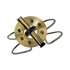 14K Gold and Sapphire Cuff Bracelet - 305604