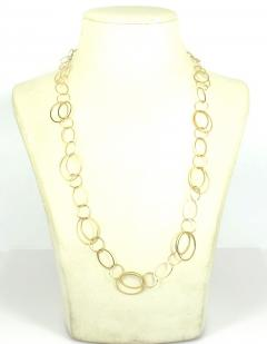 14KT YELLOW GOLD 30 INCH CIRCLE LINK NECKLACE - 1093107