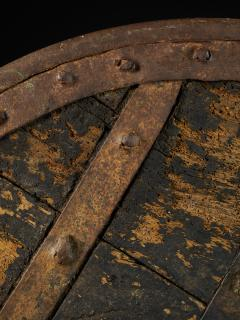 14th C France Heavy Forged Iron and Hardwood Chariot Wheel - 1867445