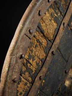 14th C France Heavy Forged Iron and Hardwood Chariot Wheel - 1867447