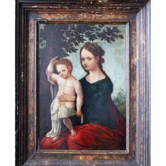 16th Century Netherlandish School Madonna and Child in a Landscape - 1196535