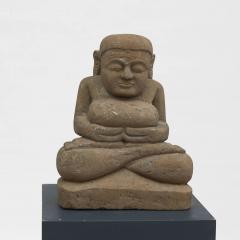 17 18TH CENTURY BURMESE SANDSTONE BUDDHA SEATED IN MEDITATION - 2139561