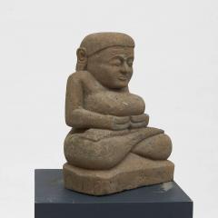 17 18TH CENTURY BURMESE SANDSTONE BUDDHA SEATED IN MEDITATION - 2139562