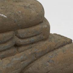 17 18TH CENTURY BURMESE SANDSTONE BUDDHA SEATED IN MEDITATION - 2139563