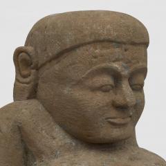 17 18TH CENTURY BURMESE SANDSTONE BUDDHA SEATED IN MEDITATION - 2139564