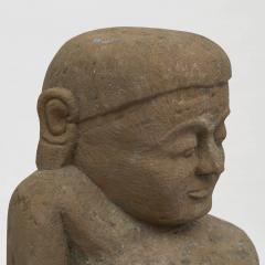 17 18TH CENTURY BURMESE SANDSTONE BUDDHA SEATED IN MEDITATION - 2139566