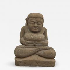 17 18TH CENTURY BURMESE SANDSTONE BUDDHA SEATED IN MEDITATION - 2139825