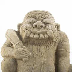 17TH 18TH CENTURY CARVED SANDSTONE TEMPLE SCULPTURE OF DEMON FROM BURMA - 1795036