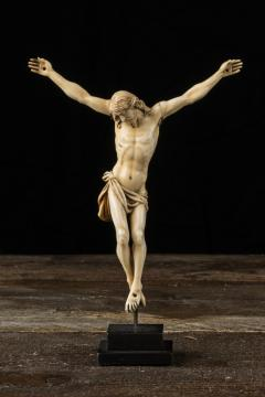 17th C Baroque Flemish School Religious Very Finely Carved Crucified Christ - 1998810