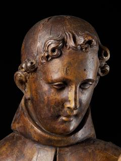 17th C Baroque Saint Italian School Wooden Sculpture of Saint Anthony - 2025150