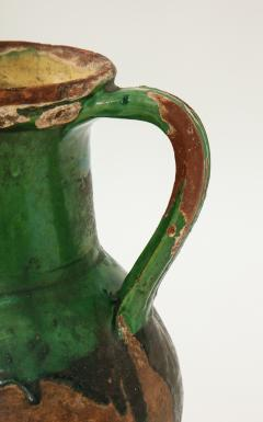 17th C Earthenware Pitcher with Yellow Green Glaze Friesland - 1289581