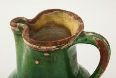 17th C Earthenware Pitcher with Yellow Green Glaze Friesland - 1289582
