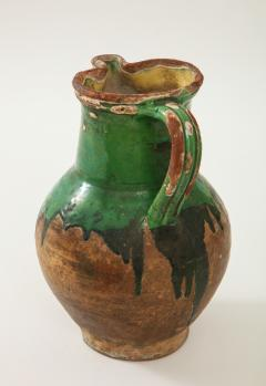 17th C Earthenware Pitcher with Yellow Green Glaze Friesland - 1289583