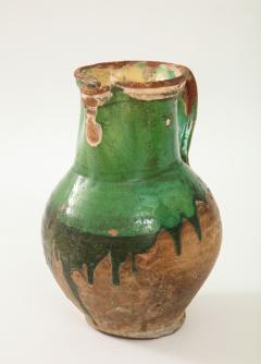 17th C Earthenware Pitcher with Yellow Green Glaze Friesland - 1289586