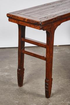 17th Century Chinese Yellow Pine Wood Low Sword Leg Side Table   310639