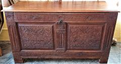 17th Century English Carved Oak Dowry Chest - 1659769