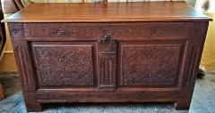 17th Century English Carved Oak Dowry Chest - 1659770