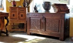 17th Century English Carved Oak Dowry Chest - 1659773
