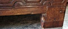 17th Century English Carved Oak Dowry Chest - 1659774