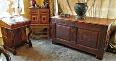 17th Century English Carved Oak Dowry Chest - 1659788