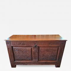 17th Century English Carved Oak Dowry Chest - 1662382