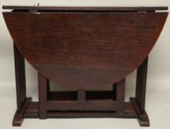 17th c English or Welsh Oval Gate Leg Table of Rare Form - 268236