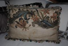 17th c Italian Baroque Embroidered Pillow - 1066477