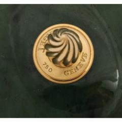 18 Karat Gold and Spinach Jade Round Box with Cover by Piaget Geneve - 1163578
