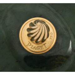 18 Karat Gold and Spinach Jade Round Box with Cover by Piaget Geneve - 1163580