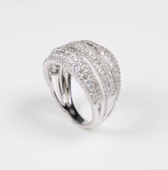 18 Karat White Gold and Brilliant Diamond Ring 1 95 Carat - 964231