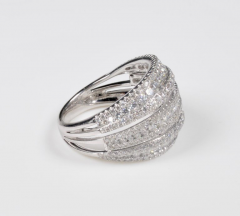 18 Karat White Gold and Brilliant Diamond Ring 1 95 Carat - 964232
