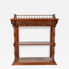 1860s Style French Oak Server Henry II Style - 176988