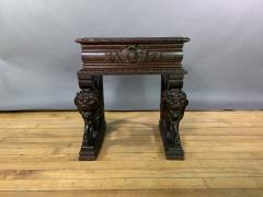 1875 French Carved Side Table Stranding Lion Supports - 1805922