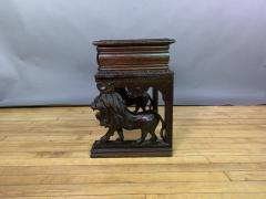 1875 French Carved Side Table Stranding Lion Supports - 1805926