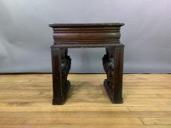 1875 French Carved Side Table Stranding Lion Supports - 1805927